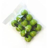 Malá dekorativní zelená jablíčka S/12