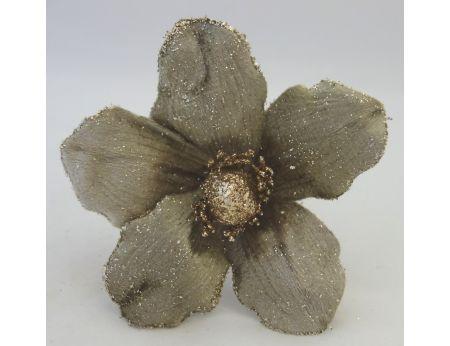Magnólie se zlatými třpytkami-3ks