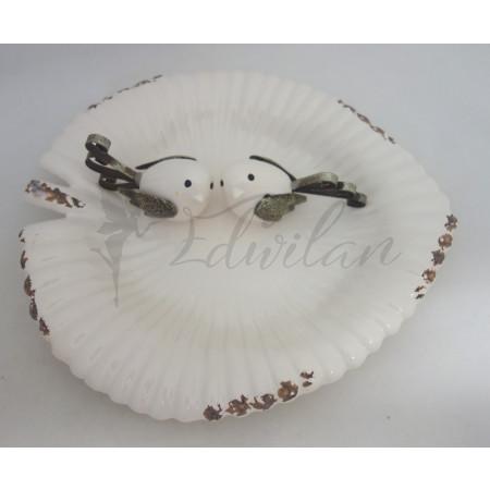 Porcelánové pítko s ptáčky