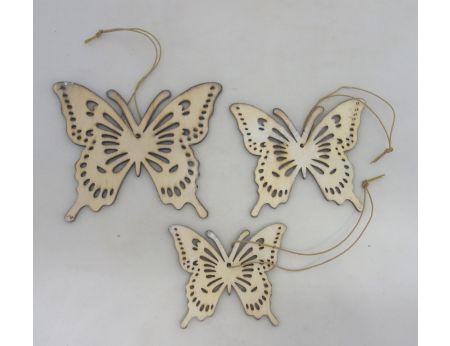 Jarní dekorace motýlek - S/3