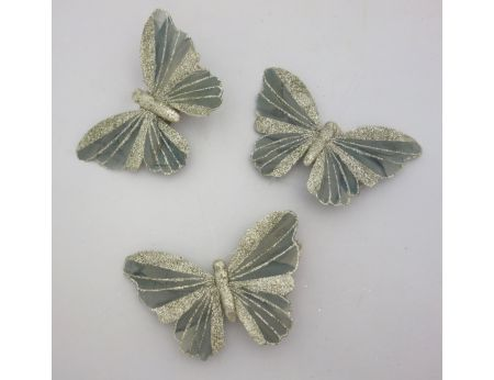 Šedý třpytivý motýlek - S/3