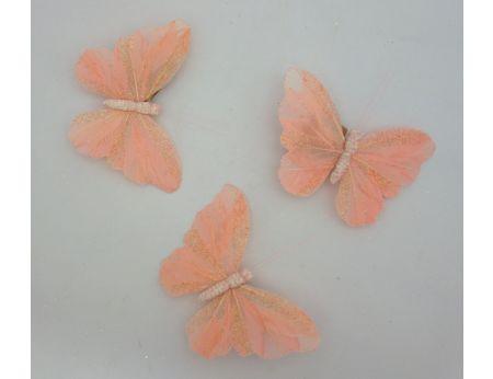 Růžový motýlek s třpytkami - S/3