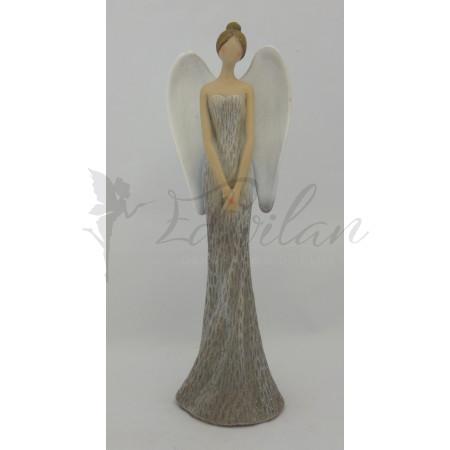 Šedý štíhlý anděl