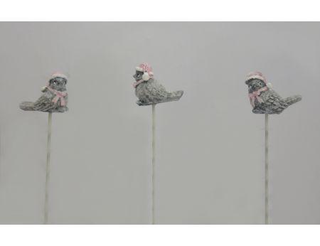 Ptáček na zápichu - 3ks